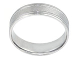 Plat 6mm Band Matte Design 2 Faceted Mirror Lines & 2 edges