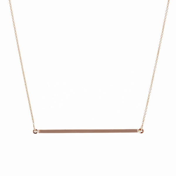 14KR Bar Necklace 18 inches Long