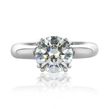 """Kayla"" Solitaire Collar Engagement Ring Setting-#362178"