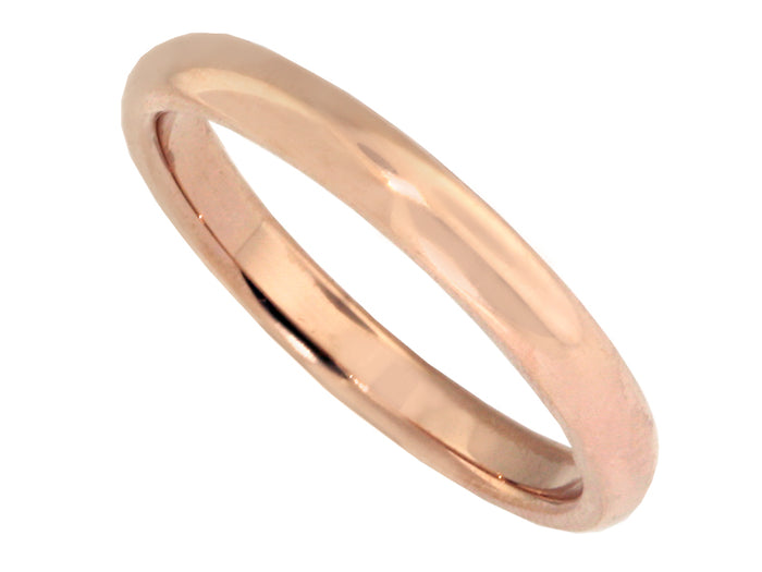 2.5 mm 18k Red Gold Wedding Band