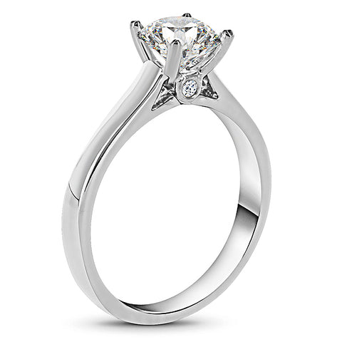 Platinum solitaire w/ Accent Diamond