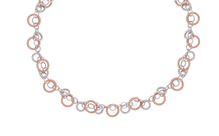 SS Rose Gold Plated Circulation Necklace