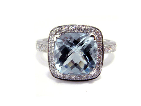 1.98ct.tw. Aquamarine & Diamond Ring