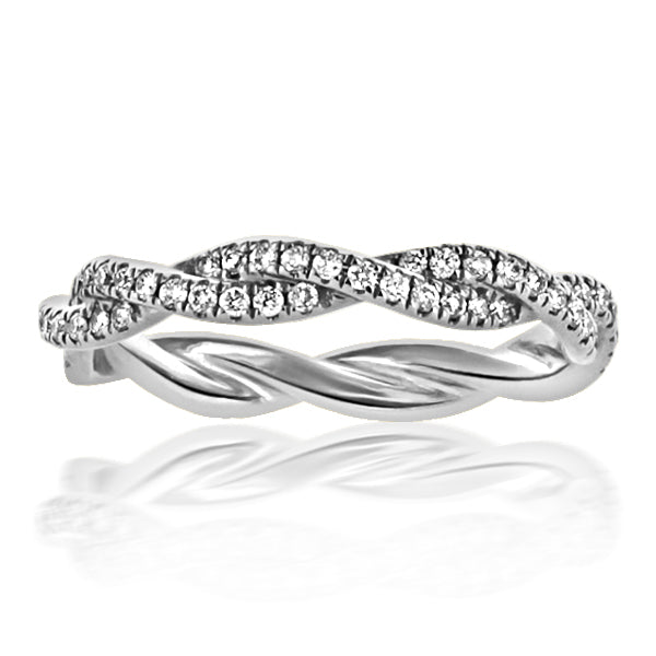 Platinum Twist Design Eternity  88rbc=.44cts