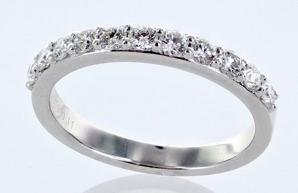 Plat Dias   Ladies Wedding Band   11rbc=0.59cts t.w.