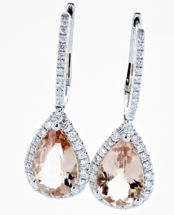 Morganite(2=3.31) Diamond(.70) Earrings