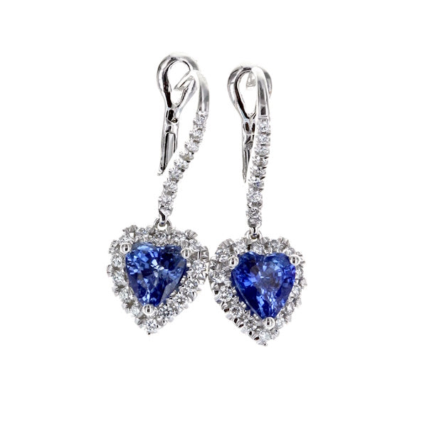 18kw HS Bl. Sapp(2.08) and Dia(44=.32) Earrings