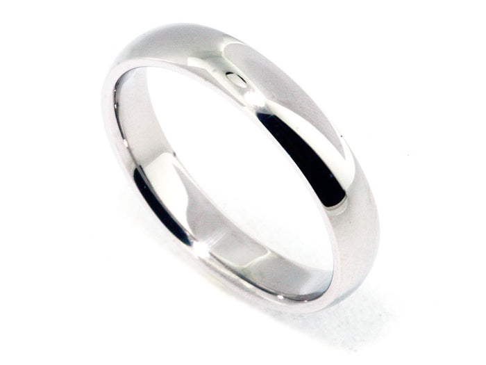 Platinum 4mm Com-Fit Wed Band
