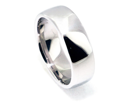 7.5mm Platinum Euro Style Band With High Polish