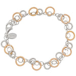 SS ROSE SPARKLE RING BRACELET