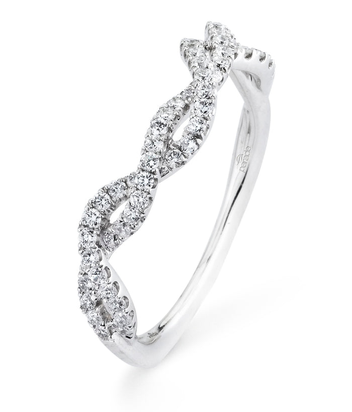 Plat. Matching Lyria Bridal Band  55rbc=0.34cts t.w.