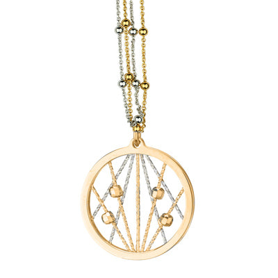 SS/YELLOW GOLD PLATED OPHILIA NECKLACE