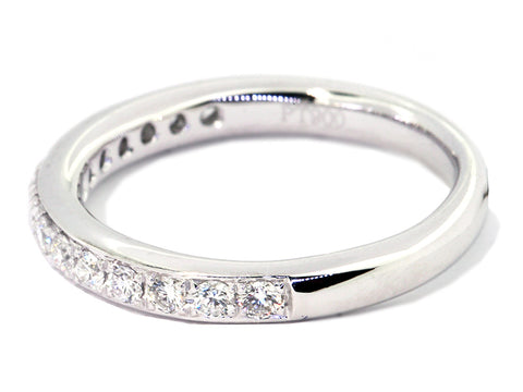 Plat Wedd Band Chnl=Set 15rbc=.33ct