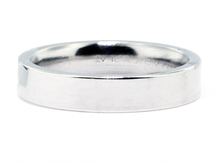 4.0 mm Platinum Squared Comfort Fit Wedding Band