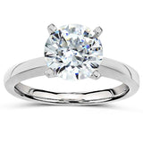 Plat Tiffany Solitaire Setting - Raised shoulders