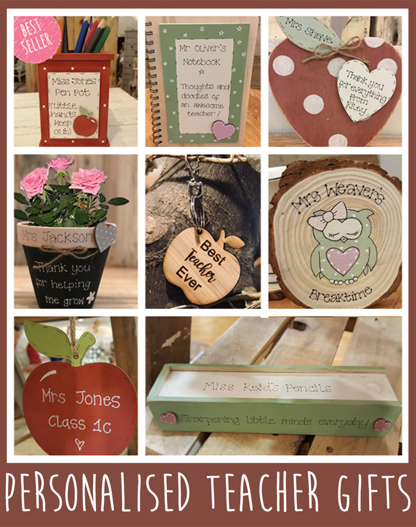GET YOUR DISCOUNT ON PERSONALISED TEACHER GIFTS!