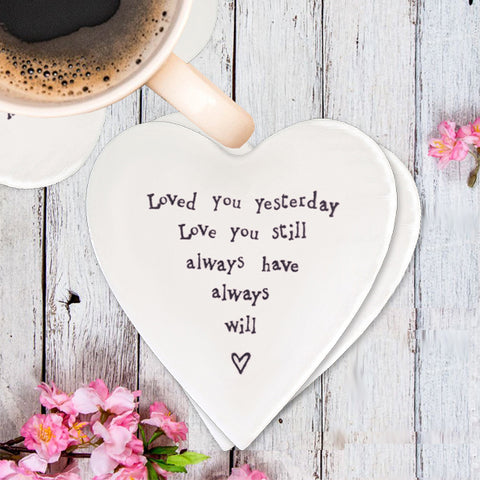 Porcelain Coaster - Loved You 2255