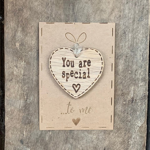 Handmade Little Sentiment Heart & Card - You are Special 10004