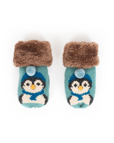 Powder Mittens - Cosy Kids Penguin in Ice 9190