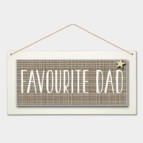 Long Sign - Favourite Dad 6162