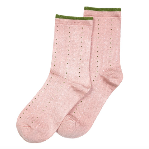 Forever England Ankle Sock - Dotty Dusky Pink 8300