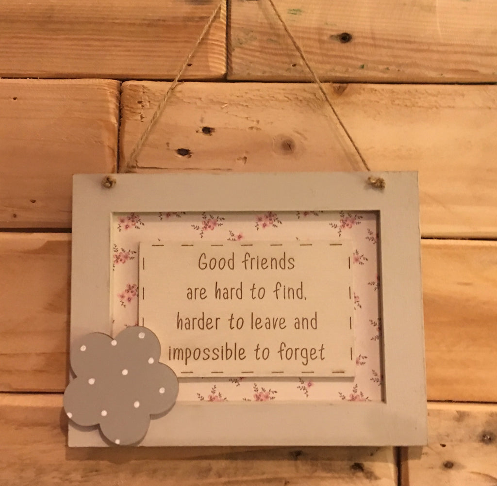 Personalised Wooden Frame Sign - Good Friends 8698