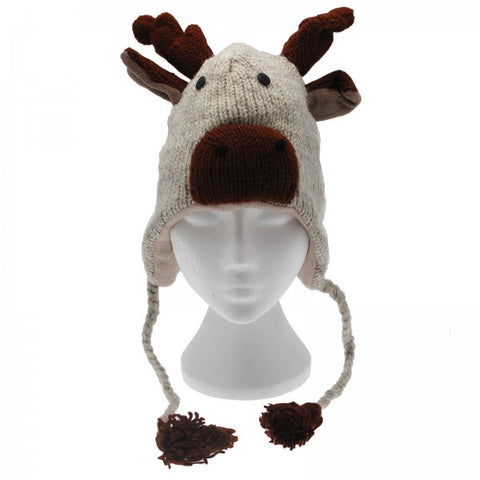 Woolen Animal Hat - Reindeer 8260