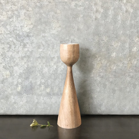 Natural Wood Candle Stick Small 9102