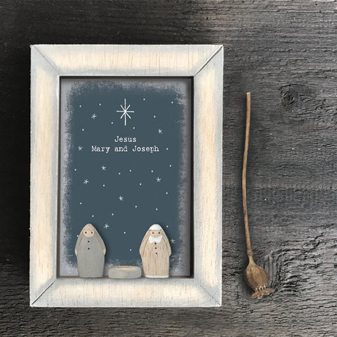 Box Frame -  Jesus, Mary & Joseph 10629