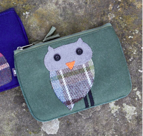 Earth Squared Animal Applique Juliet Purse - Green Owl 8409