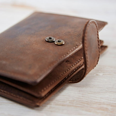 Buffalo Leather Credit Card Wallet 8684