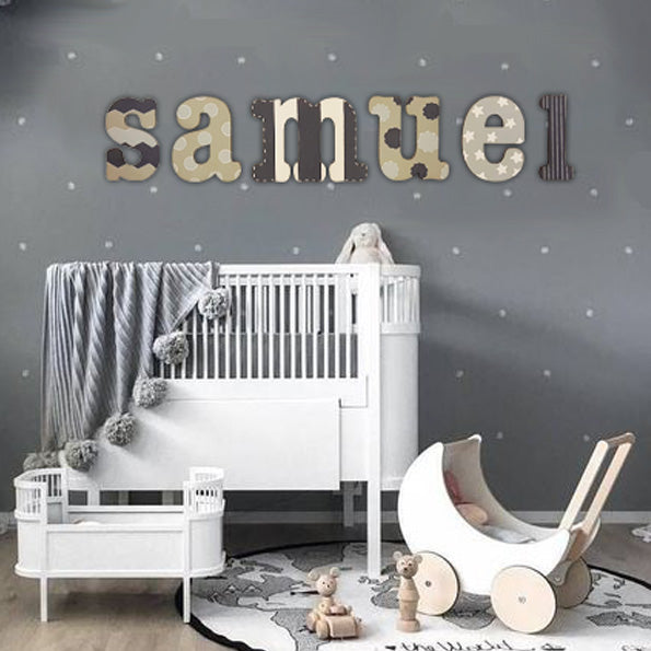 Personalised Wall Letters - Stripe, Polka Dot & ZigZags 8569