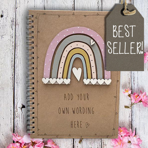 Handmade Rainbow Notebook - Personalised 9959