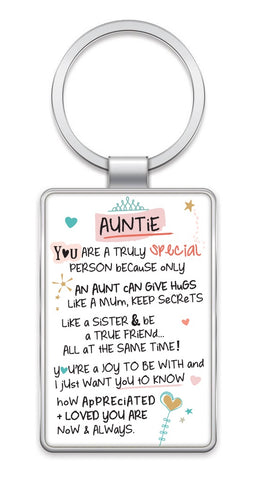 Inspired Words Keyring - Auntie 6442