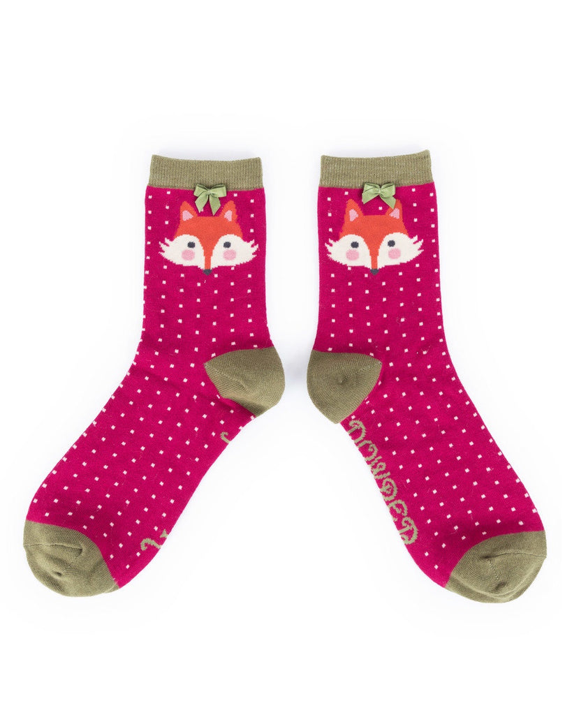 Powder Ankle Sock - Fox in Berry 8127