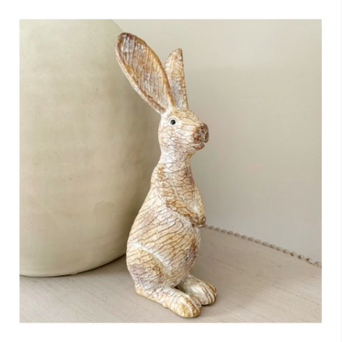 Carving Inspired Bunny 23cm 9565