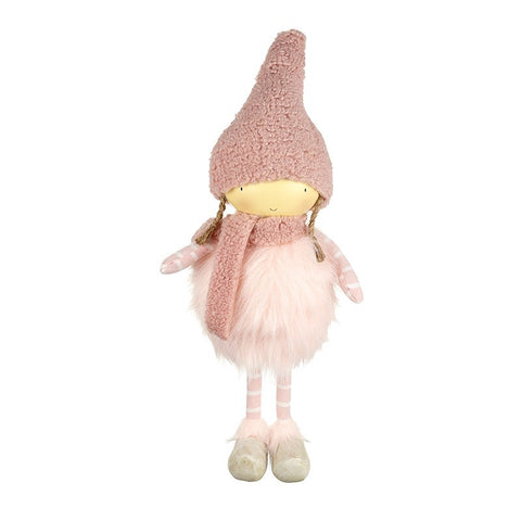 Standing Girl in Pink Hat & Scarf 6794