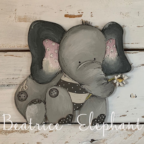 Personalised Animal Range - Beatrice Elephant Lg Plaque 9677