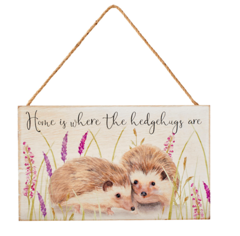 Hedgehog Couple Plaque 9697