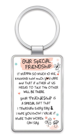 Inspired Words Keyring - Our Special Friendship 6438