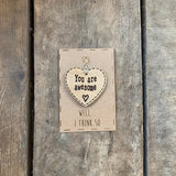 Handmade Little Sentiment Heart & Card - Awesome 10003