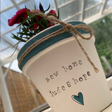 Personalised Plant Pot Sm - Stripe & Stamp 10009