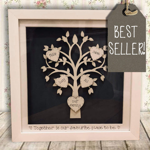 Personalised Family Tree in Sm White Frame 10432