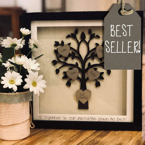Personalised Family Tree Sm in Black Frame 10433