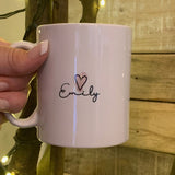 Highlights Personalised 10oz Mug - Scripture Wording Pink 10703