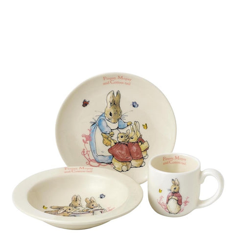 Beatrix Potter Flopsy, Mopsy & Cotton Tail Nursery Set 4787