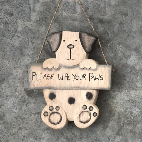 Hanging Dog - Please Wipe Your Paws 9615