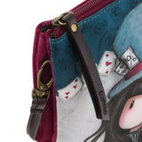 Gorjuss Double Pouch Cross Body Bag - The Hatter 8473