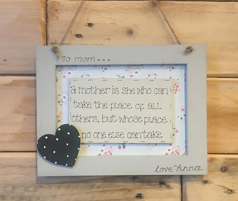 Personalised Wooden Frame Sign - A Mother is She 8696