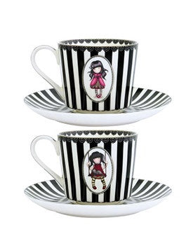 Gorjuss Teacup & Saucer Set of 2 - Ladybird & Ruby 6939